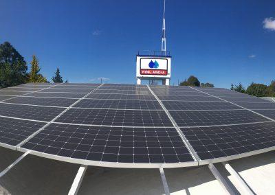 Generación de energía solar para industria